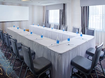 Meeting Room with U-shaped Table set-up