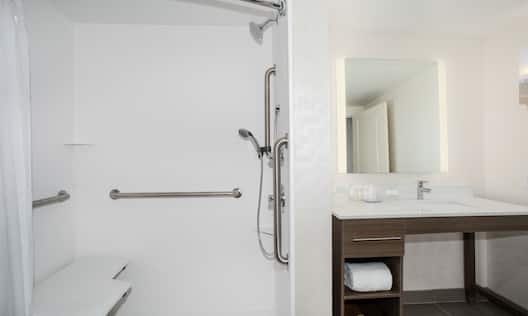 Accessible Guest Shower with Roll-In Shower