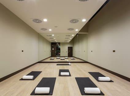 Yoga Studio with Mats on the Floor