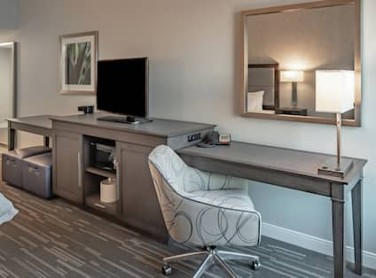 Guest Room with Work Desk Area and Television
