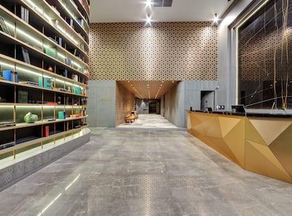 Reception Desk in Lobby Area