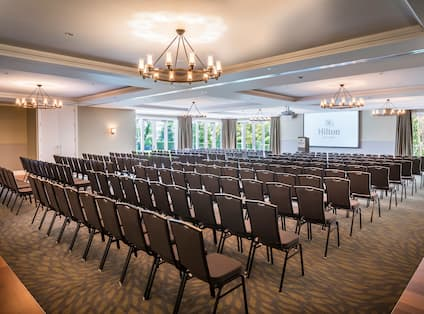 Ballroom Theatre Setup with Projector Screen