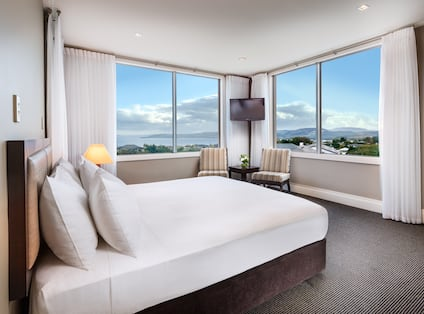 King Bed and Views from Two Large Windows