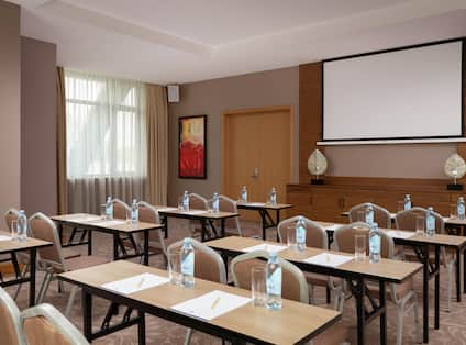 Conference Room with Classroom Setup