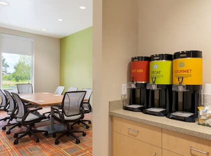 Meeting Room With Coffee Station