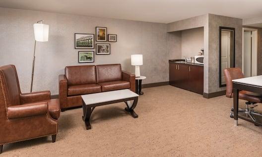 The Saratoga Hilton Hotel, NY - Junior Suite Living Area