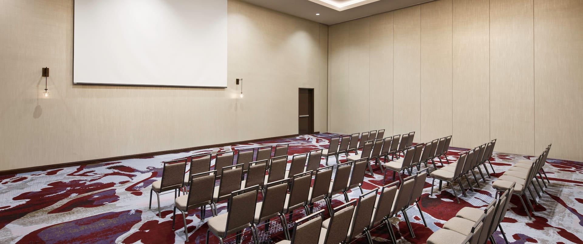 Ballroom Classroom  Setup with Projector Screen