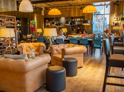 Lounge Area Seating and Diners in Restaurant Brooklyn
