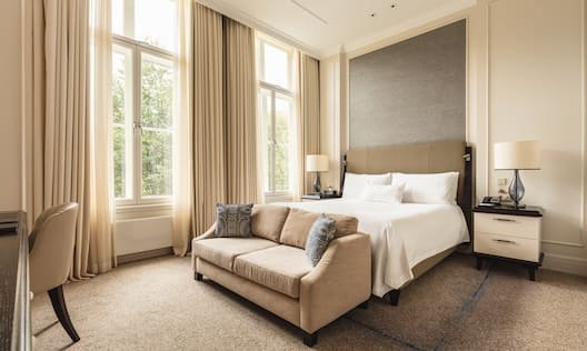 Accessible King Guest Room with Sofa and Work Desk