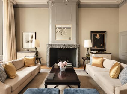 Van Loon Suite Living Area with Fireplace