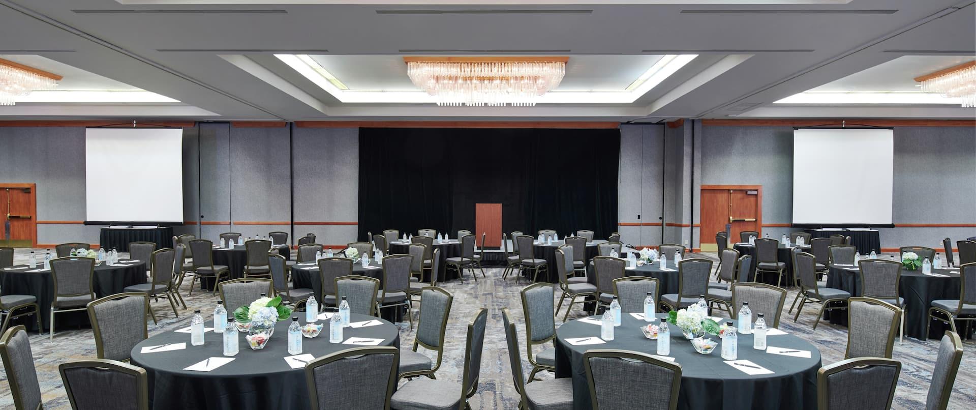 Alaska Ballroom Setup with Round Tables