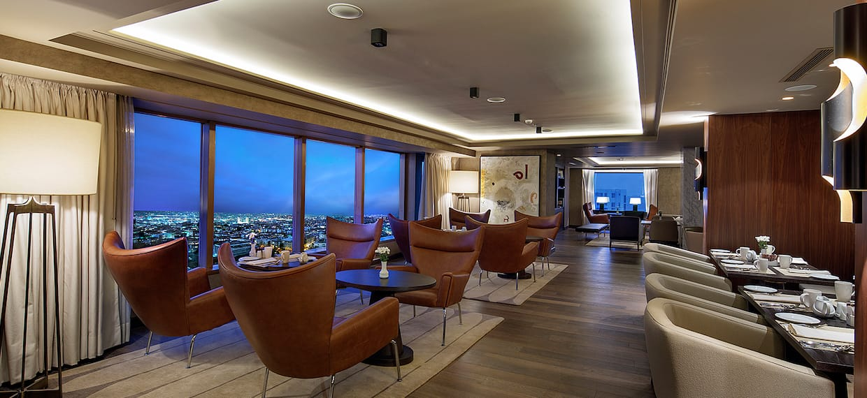 Executive Lounge Seating with City View