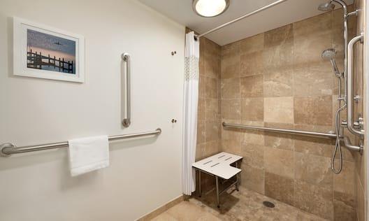 Queen Bed Accessible Bath