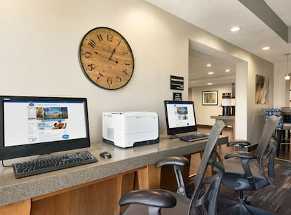 Business Center Desk with Computers