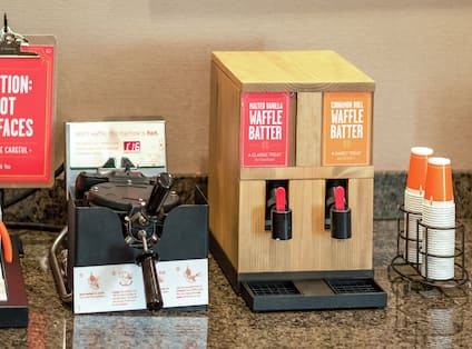 Breakfast Buffet Detail Waffle Maker Station