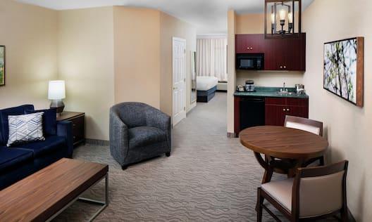 Suite Living Area with Seating and Kitchenette