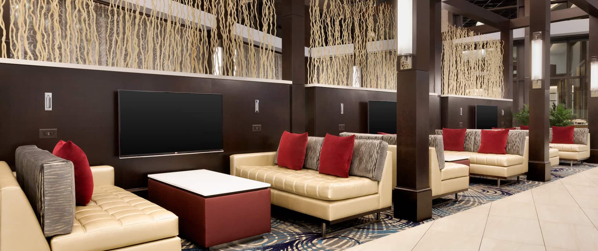 Atrium Seating Area with TVs