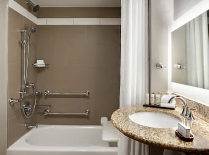 Accessible Guestroom Bathroom with Bathtub