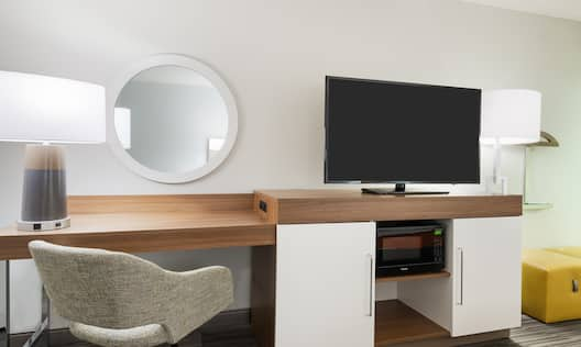 TV and Workspace in Guest Room
