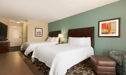 Guestroom with two queen beds.