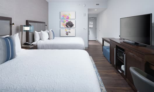 Guestroom with Two Queen Beds with Room Technology