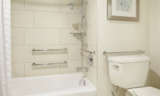 Accessible Tub with Handrails