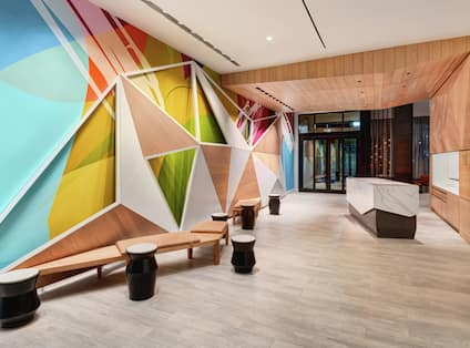 Hotel Lobby Entrance and Front Desk