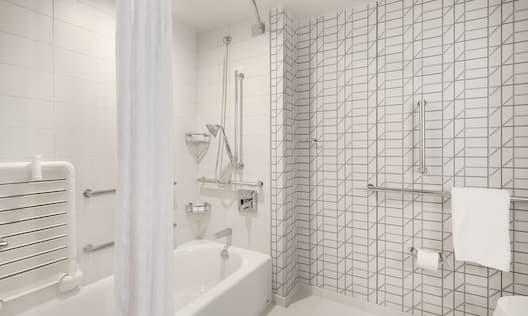 Accessible Guestroom Bathroom With Bathtub