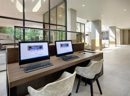 Business center with 2 computers