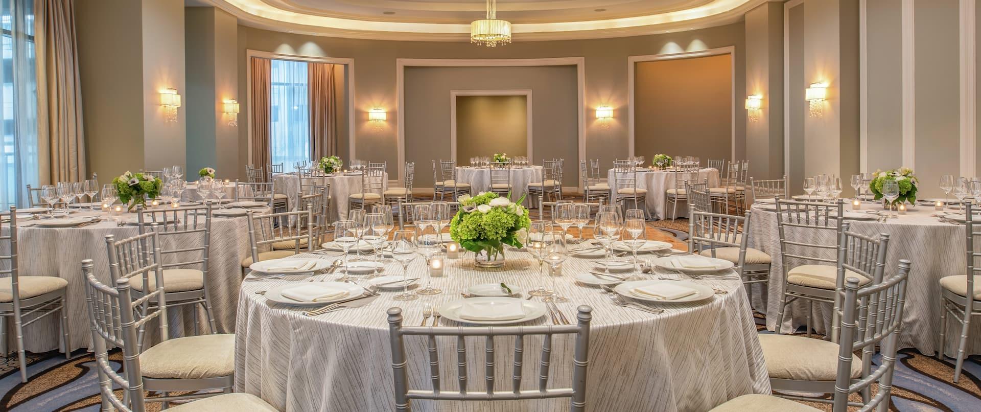 Astor Ballroom Rounds Setup