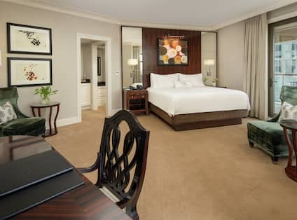 King Guestroom with Bed, Lounge Area, and Work Desk