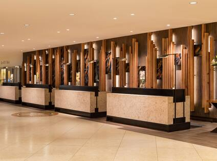 Lobby Front Desk and Walk-Up