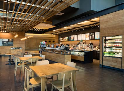 Starbucks Seating and Counter