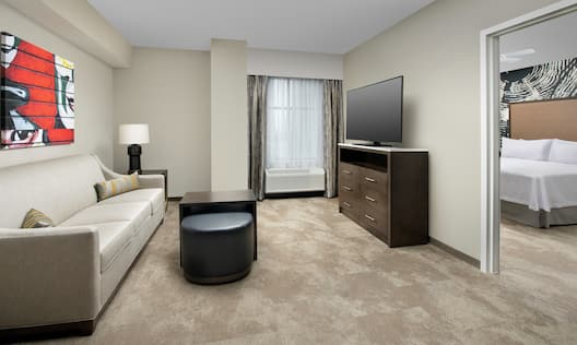 Accessible Guest Room with Living and Lounge Area