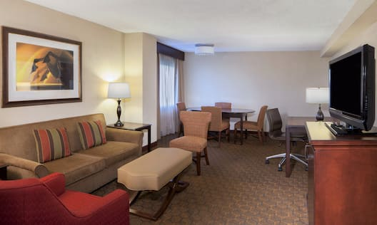 Living Room of Suite with sofa and table