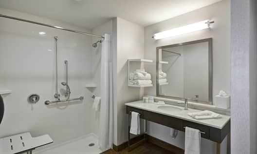 Roll in Shower in Accessible Bathroom