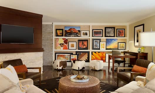 Accessible Presidential Suite Living Area