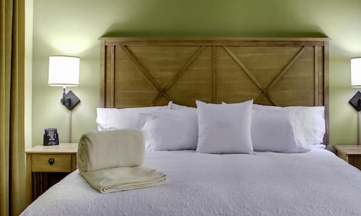 King Bed with Decorative Headboard