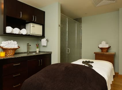 Massage Table at the Spa