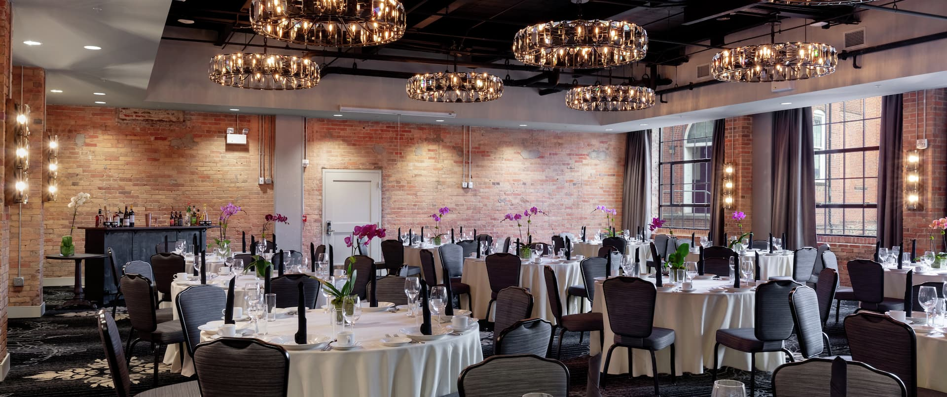 Elegant Ballroom with Dining Space