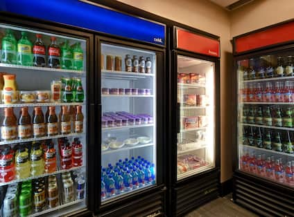 snack shop with cold drinks