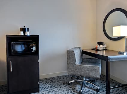 guest room with work desk