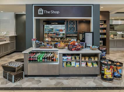 The Shop with Snacks and Drinks