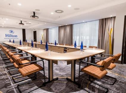 Meeting Room set up for meeting in U-shape