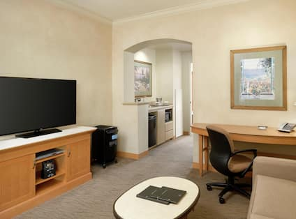 Two Room Suite with Large HDTV and Wi-Fi