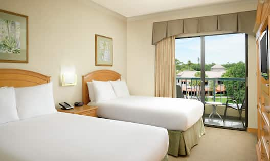 Suite with Two Double Beds and Outside View