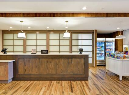 Lobby With Front Desk And Snack Shop