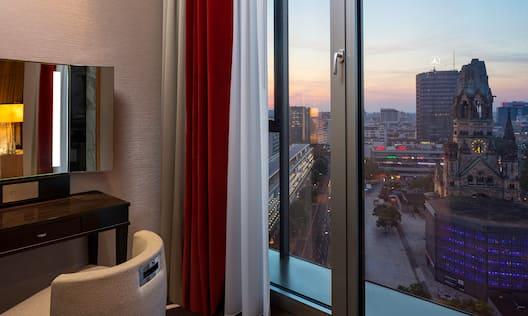 View from suite, with city view