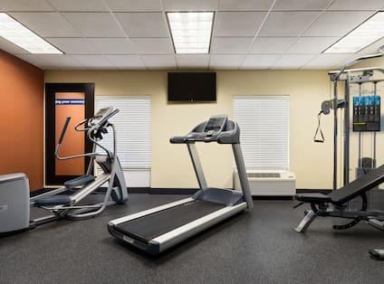 Fitness Center Treadmill, Cross-Trainer and Weight Machine