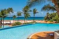Infinity Pool by the Ocean at Hilton Barbados